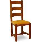 scaun rustic tapitat
