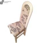 Scaun cu spatar din lemn alb