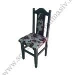scaun cu spatar din lemn masiv tapitat cu stofa